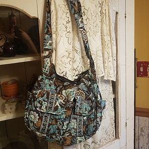 Vera Bradley Turquoise/brown purse w/ wallet!  ♡